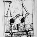 Enrico Della Torre, Animale spaziale, 1968, china, 30,5 x 26 cm