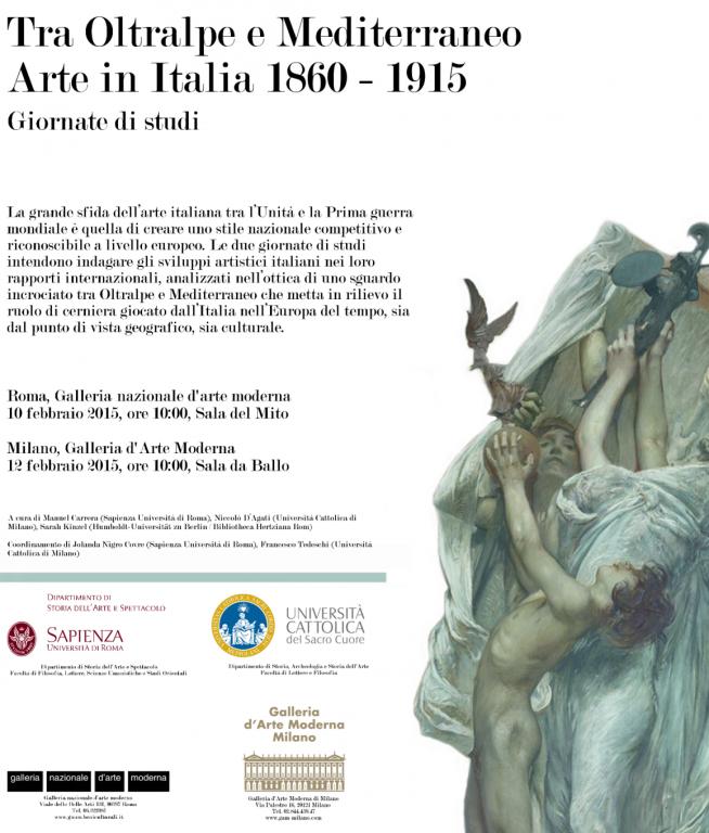 """""""TRA OLTRALPE E MEDITERRANEO. ARTE IN ITALIA 1860-1915"""", GIORNATA DI STUDIO ALLA GAM"""