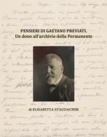 PENSIERI DI GAETANO PREVIATI _ Spunti d'archivio